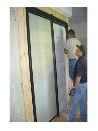 pocket door frame installed