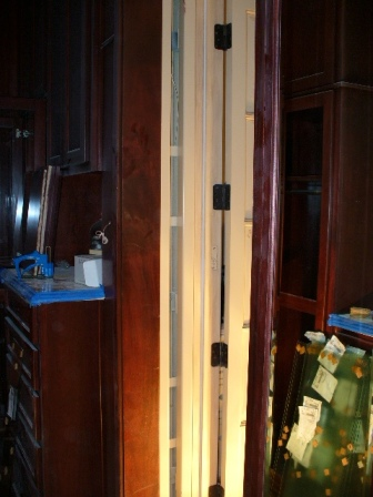 Ballistic Door (pocket door) installed into walk in closet