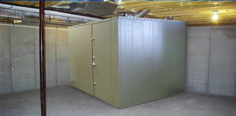 Safe rooms storm shelters gun vaults modular vault for Vault room construction