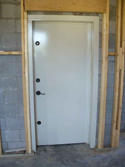 Safe room doors safe doors security doors safe room door for Room door frame