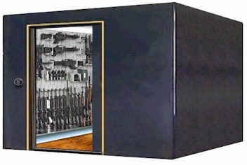 Gunvault walk in gun vault gun safes gunsafes gun for Walk in safe rooms